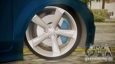 Audi TT RS 2011 v3 для GTA San Andreas вид сзади слева