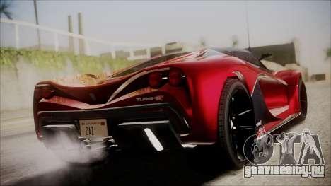 GTA 5 Grotti Turismo R IVF для GTA San Andreas вид слева