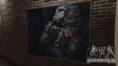 Star Wars Posters for Franklins House 0.5 для GTA 5 пятый скриншот