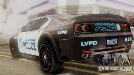 Hunter Citizen from Burnout Paradise Police LV для GTA San Andreas вид слева