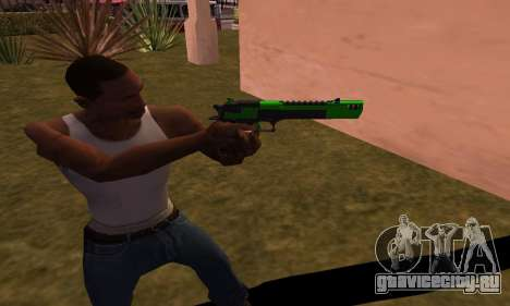 Deagle Green Style для GTA San Andreas