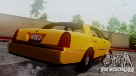 Washington Taxi для GTA San Andreas вид слева