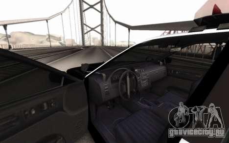 GTA 5 Stanier Police для GTA San Andreas вид сзади слева