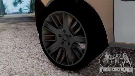 Fiat Doblo PPX для GTA San Andreas вид сзади слева