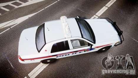 Ford Crown Victoria Bohan Police [ELS] для GTA 4 вид справа