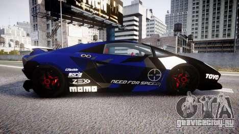 Lamborghini Sesto Elemento 2011 для GTA 4 вид слева