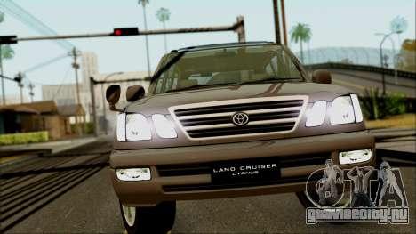 Toyota Land Cruiser Cygnus для GTA San Andreas вид сзади