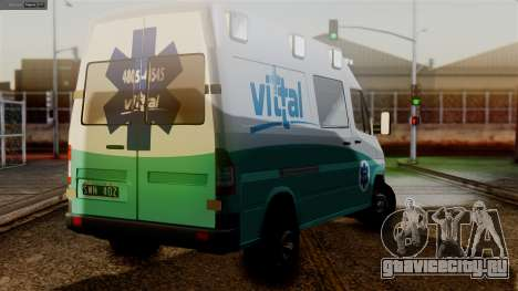 Mercedes-Benz Sprinter Ambulance Vittal для GTA San Andreas вид слева