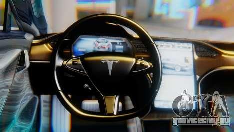 Tesla Model S для GTA San Andreas вид справа