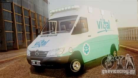 Mercedes-Benz Sprinter Ambulance Vittal для GTA San Andreas
