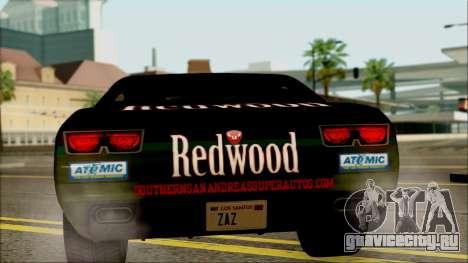 GTA 5 Bravado Gauntlet Redwood HQLM для GTA San Andreas вид справа