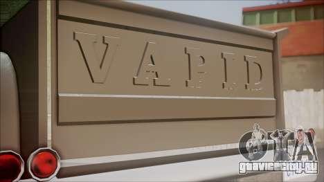 GTA 5 Vapid Slamvan Pickup для GTA San Andreas вид сзади