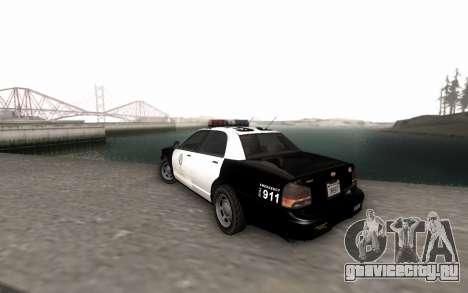 GTA 5 Stanier Police для GTA San Andreas вид слева