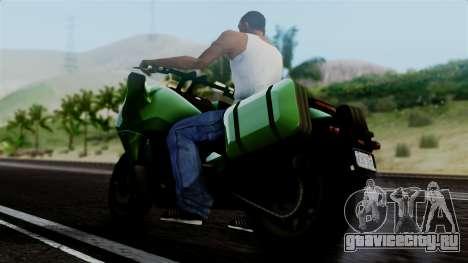 Dinka Vindicator GTA 5 Plate для GTA San Andreas вид сзади слева