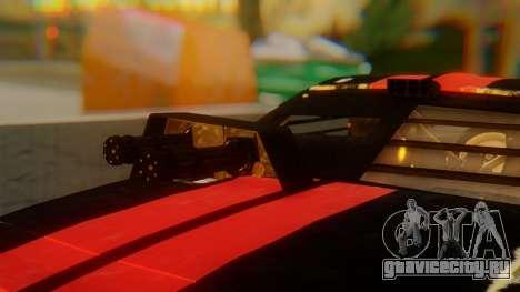 Shelby GT500 Death Race для GTA San Andreas вид сзади
