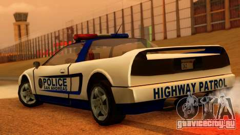Police Infernus для GTA San Andreas вид слева