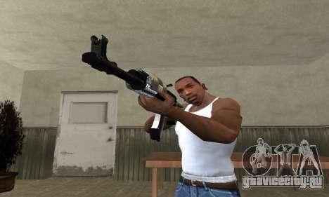 Cool Black AK-47 для GTA San Andreas второй скриншот