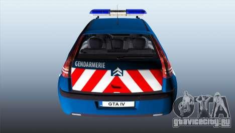 Citroen C4 Gendarmerie [ELS] для GTA 4 вид сзади слева