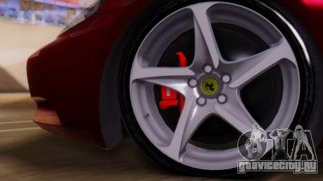 Ferrari California v2.0 для GTA San Andreas вид справа