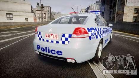 Holden Commodore Omega Victoria Police [ELS] для GTA 4 вид сзади слева