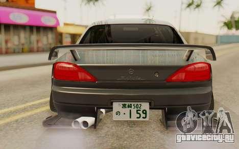Nissan Silvia S15 Stance для GTA San Andreas вид сзади