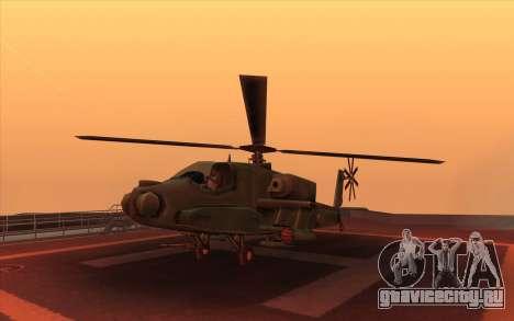 Hunter из Vice City для GTA San Andreas вид изнутри