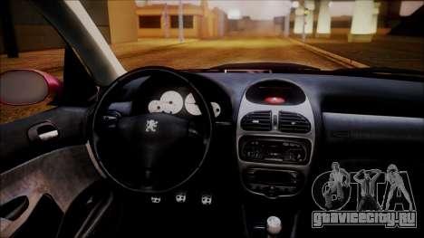 Peugeot 206 Al Piso для GTA San Andreas вид сзади