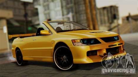 Mitsubishi Lancer Evolution 2015 для GTA San Andreas
