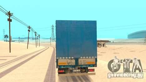 Тентованный прицеп для GTA San Andreas вид сзади слева