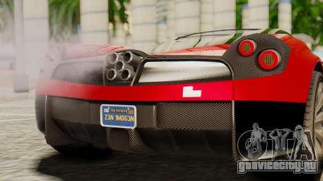 Pegassi Osyra для GTA San Andreas вид сзади