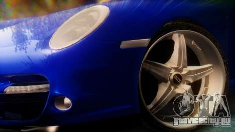 Porsche 911 2010 Cabrio для GTA San Andreas вид сзади слева
