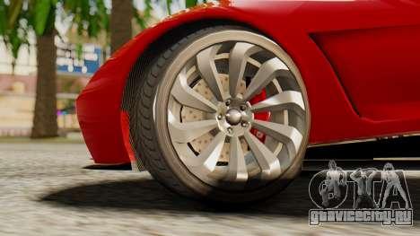 Pegassi Osyra для GTA San Andreas вид сзади слева