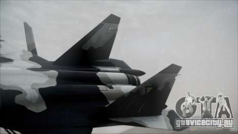 SU-47 Berkut Grabacr Ace Combat 5 для GTA San Andreas вид сзади слева