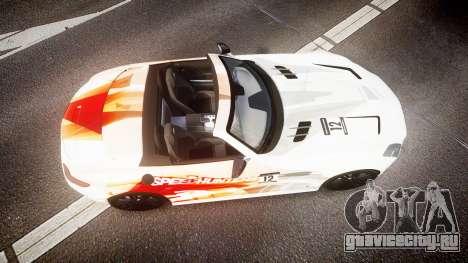 Mercedes-Benz SLS AMG для GTA 4 вид справа