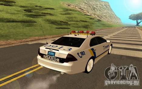 Ford Taurus Ukraine Police для GTA San Andreas вид справа