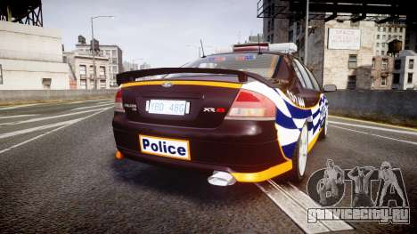 Ford Falcon BA XR8 Highway Patrol [ELS] для GTA 4 вид сзади слева