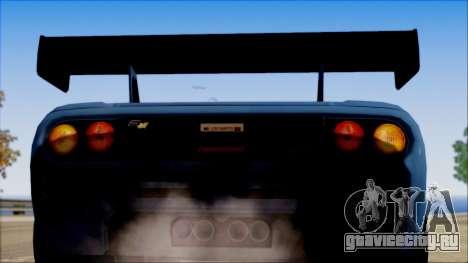 McLaren F1 LM 1995 для GTA San Andreas вид справа