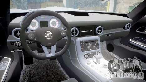 Mercedes-Benz SLS AMG для GTA 4 вид сзади