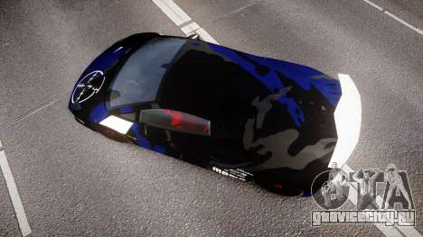Lamborghini Sesto Elemento 2011 для GTA 4 вид справа
