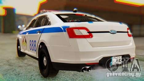 Ford Taurus Iraq Police v2 для GTA San Andreas вид слева