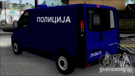 Opel Vivaro Policija для GTA San Andreas вид слева