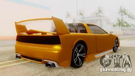 Infernus BMW Revolution with Spoiler для GTA San Andreas вид слева