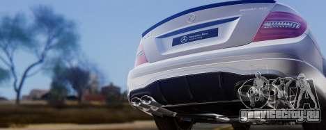 Mercedes-Benz C63 AMG 2013 для GTA San Andreas вид сверху