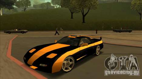 ZR-350 Road King для GTA San Andreas вид сзади