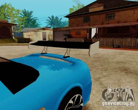 Infernus Lamborghini для GTA San Andreas вид сбоку