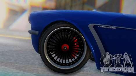 Invetero Coquette BlackFin Convertible для GTA San Andreas вид сзади слева