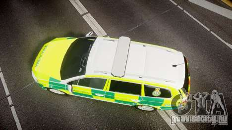 Volkswagen Passat B7 North West Ambulance [ELS] для GTA 4 вид справа