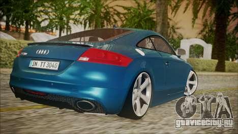 Audi TT RS 2011 v3 для GTA San Andreas вид слева