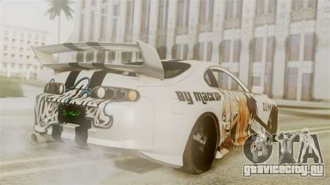 Toyota Supra Full Tuning для GTA San Andreas вид слева