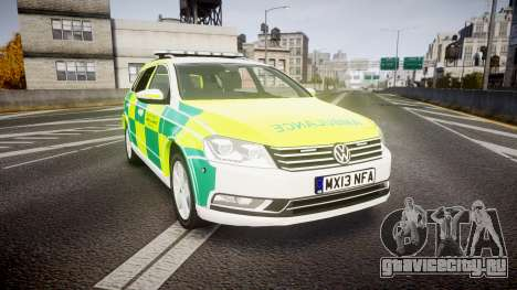 Volkswagen Passat B7 North West Ambulance [ELS] для GTA 4